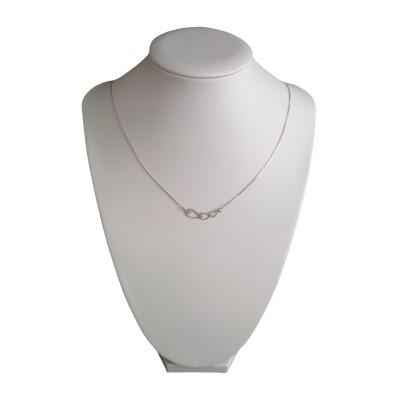 Chain of silver hearts 42 cm SLC39M
