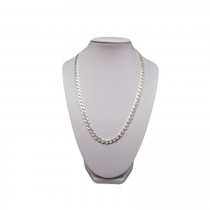Chain silver male armored 55 cm SLM02