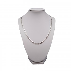 Silver male chain rhodium-coated gucci 55 cm SLM04