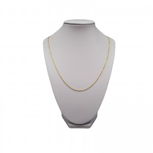 Silver necklace with gold plated ankier weave SLP01