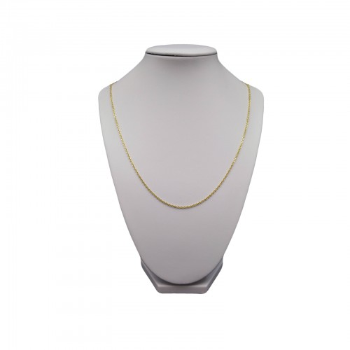 Silver necklace with gold plated ankier weave 80 cm SLP01