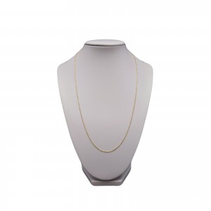 Silver chain with gold-plated ball weave 45, 50 cm SLP02