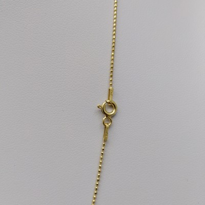 Silver chain with gold-plated ball weave 50, 60 cm SLP02