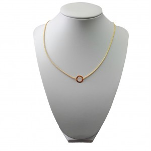 Gold-plated silver rim chain 42 cm SLPC12M