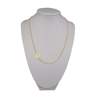 Silver chain with clover 42 cm SLPC14M