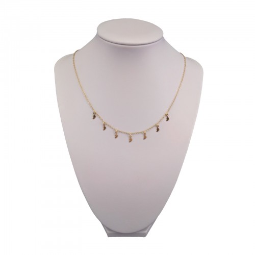 Gold-plated silver necklace with feet 42 cm SLPC18M