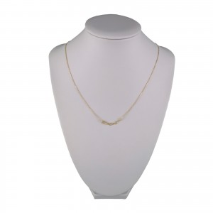 Silver necklace with gilt triangles 42 cm SLPC24M
