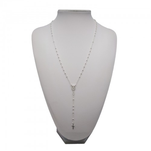 Silver chain with a ball weave SRL03