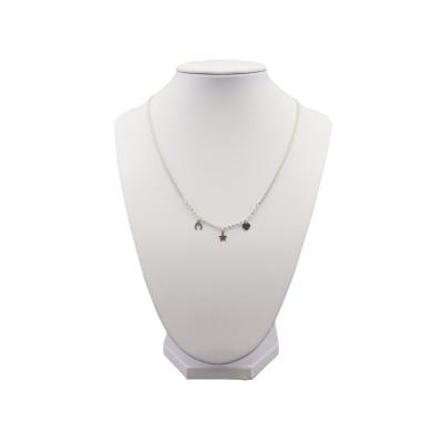 Chain silver heart, star, horseshoe 45 cm SLC09M