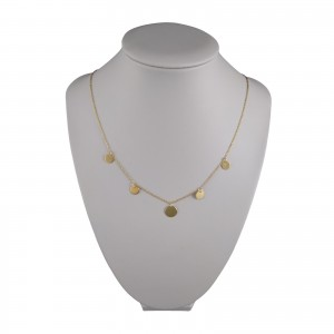 Gold-plated silver chain celebrity with 5 circles SLPC01