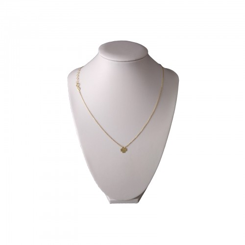 Gold-plated silver chain celebrity with 45 cm SLPC03