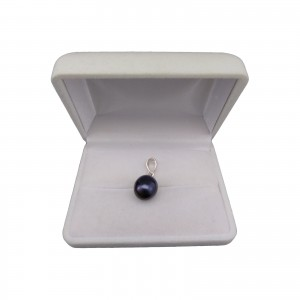 Pendant with real black pearl 10-16 mm PW01