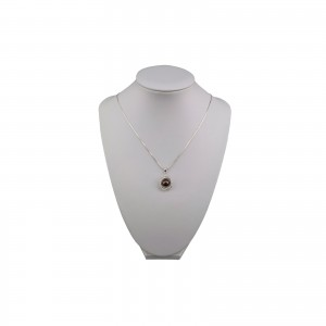 Decorative pendant with brown pearl and cubic zirconia PGW08-C