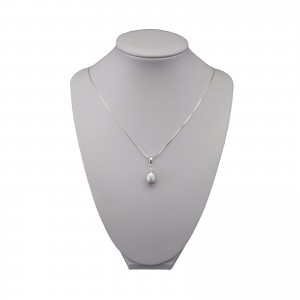 Pendant with real silver pearl 9 - 14 mm PW29