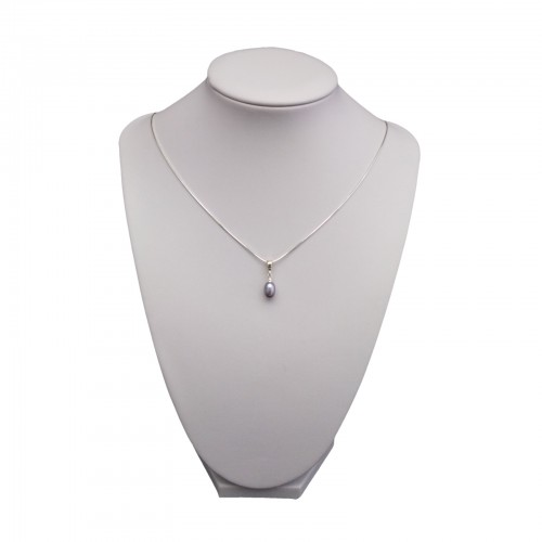 Silver pendant with a small pearl tear 5.5 - 9 mm PW30