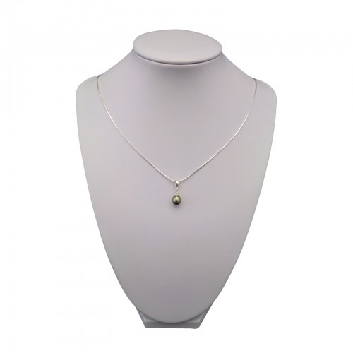 Pendant with a real pearl in the shape of a teardrop 6-9 mm PW33