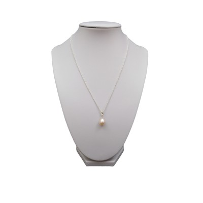 Classic pendant with a pink pearl 10-12 mm PW36-B