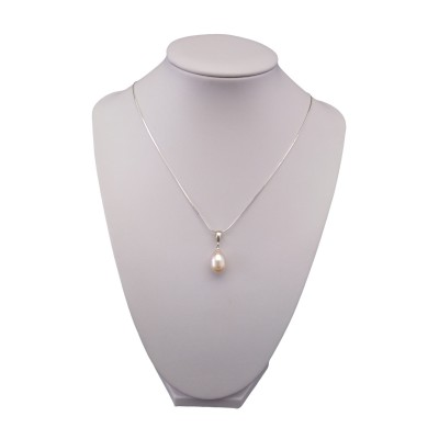 Pink pearl pendant PW36
