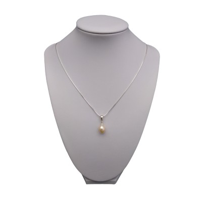 Pink pearl pendant PW37