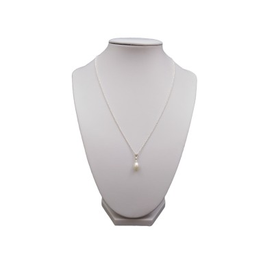 Pendant with white pearl in the shape of a teardrop 7.5 mm PW38
